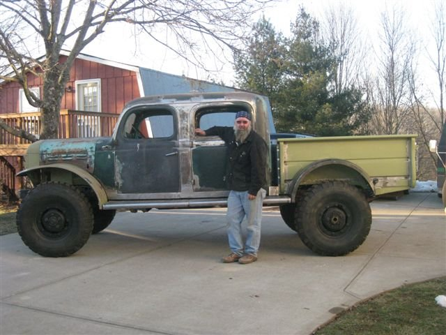 michael verst crew cabPictures Of The 1955 Power Wagon Crew Cab He Has Been Fabricating #1