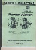 Carburetor and Governor Service Bulletin