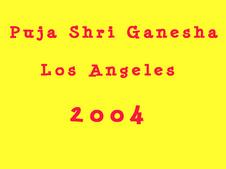 Shri Ganesha Puja 2004