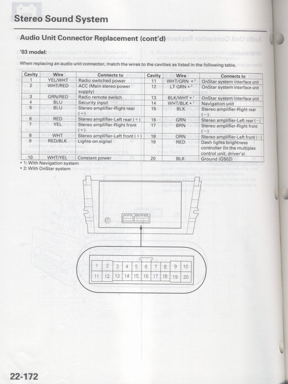 Picture 041 d i y retain your navi prompts w aftermarket headunit 2005 acura mdx stereo wiring diagram at gsmx.co