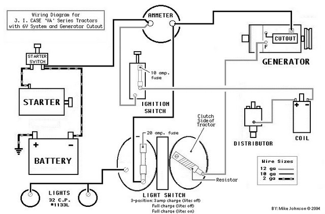 wiring diagram for a va case tractor