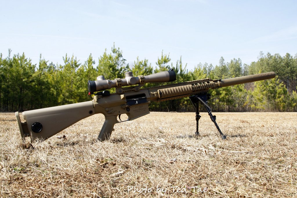 Photo Taken by Ted Tae and  M110 Sniper Rifle