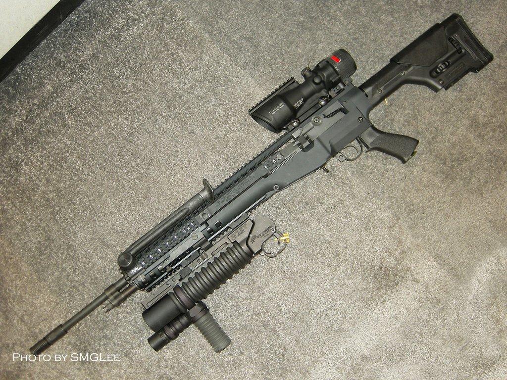 Troy Industries had this mega  M14 Ebr Silenced