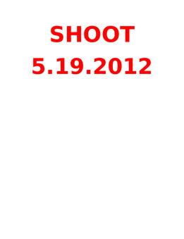 Fun Shoots 2012