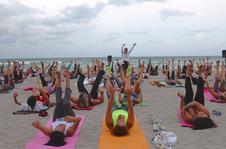 Full Moon Yoga on the Beach, June  2016