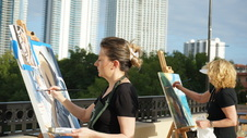 SIB Oil Painting Club First  Pop Up Art