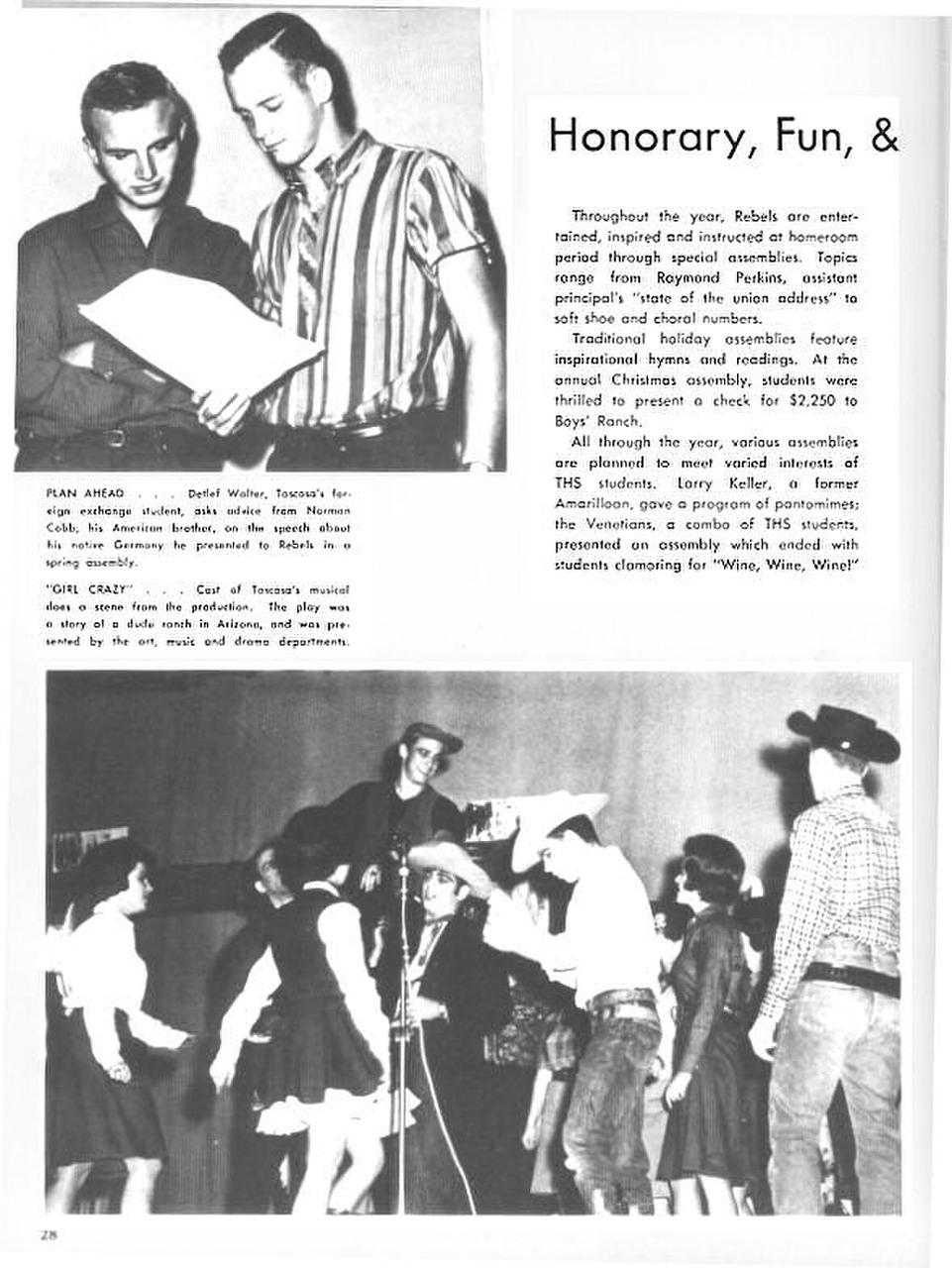 Las Memorias 1963 Seniors Yearbook