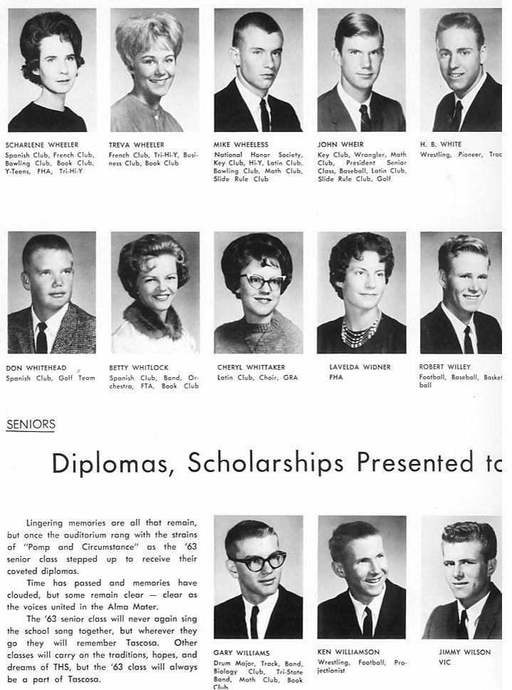 Seniors Tascosa 1963,  Amarillo, Texas