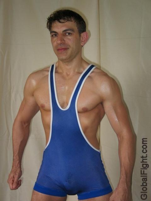 wrestler with hardon crotch bulge