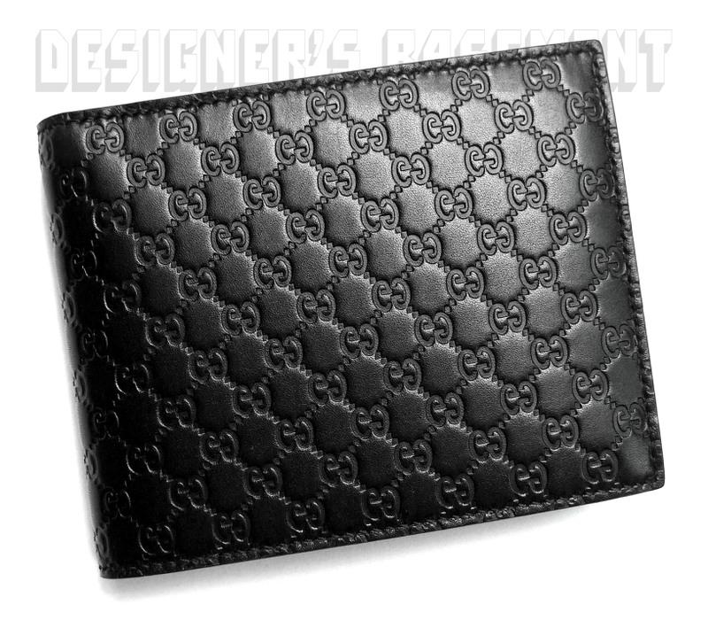 f80d2f1514d7 GUCCI Mens black MICRO GUCCISSIMA Flip ID Window COIN POUCH wallet NIB  Authentic | eBay