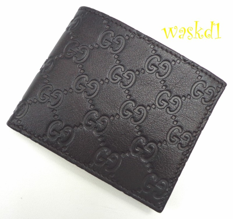 1189869c8eba Gucci Mens Black Leather Guccissima Embossed Bifold Wallet ...