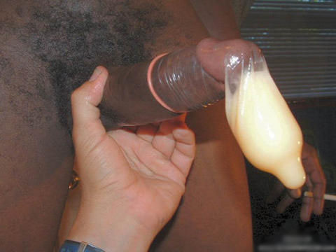 Black cock spunk condoms