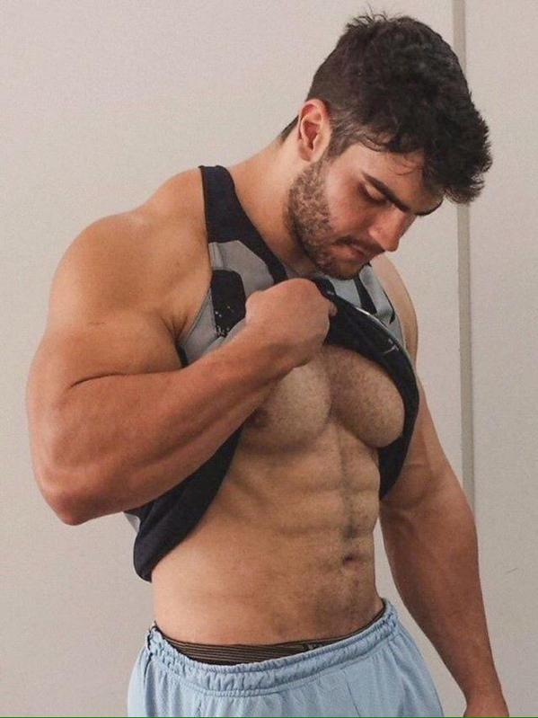 Bearded muscle men