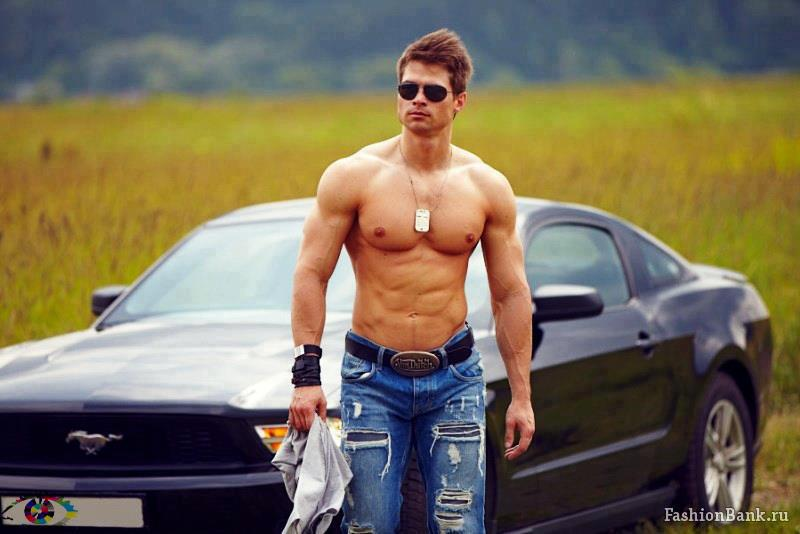 sexy muscle car guy