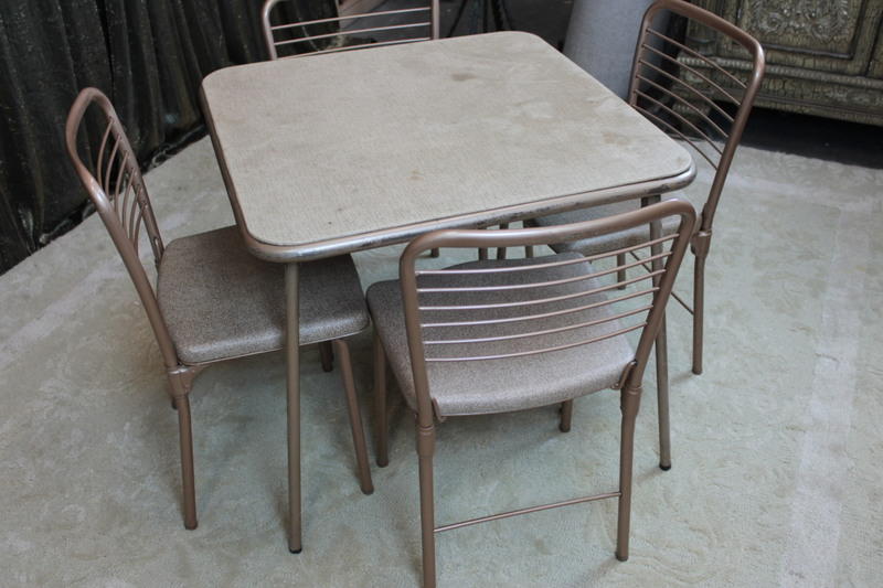 vintage mid century style cosco fashionfold chairs and stylaire table ebay. Black Bedroom Furniture Sets. Home Design Ideas
