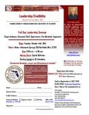 Leaderrship Credibility Seminar