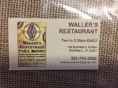 Waller's Restaurant - Bushnell