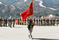 CHANGE OF COMMAND - 1ST BN, 1ST MARINES