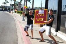 NEWPORT BEACH CAR WASH BY 1/1 MARINES