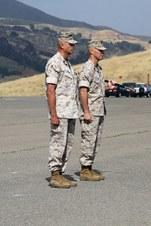 SERGEANTS  MAJOR KIMBLE & DABNEY, USMC