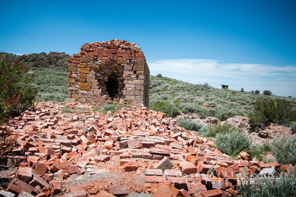 Remains of stout brick building
