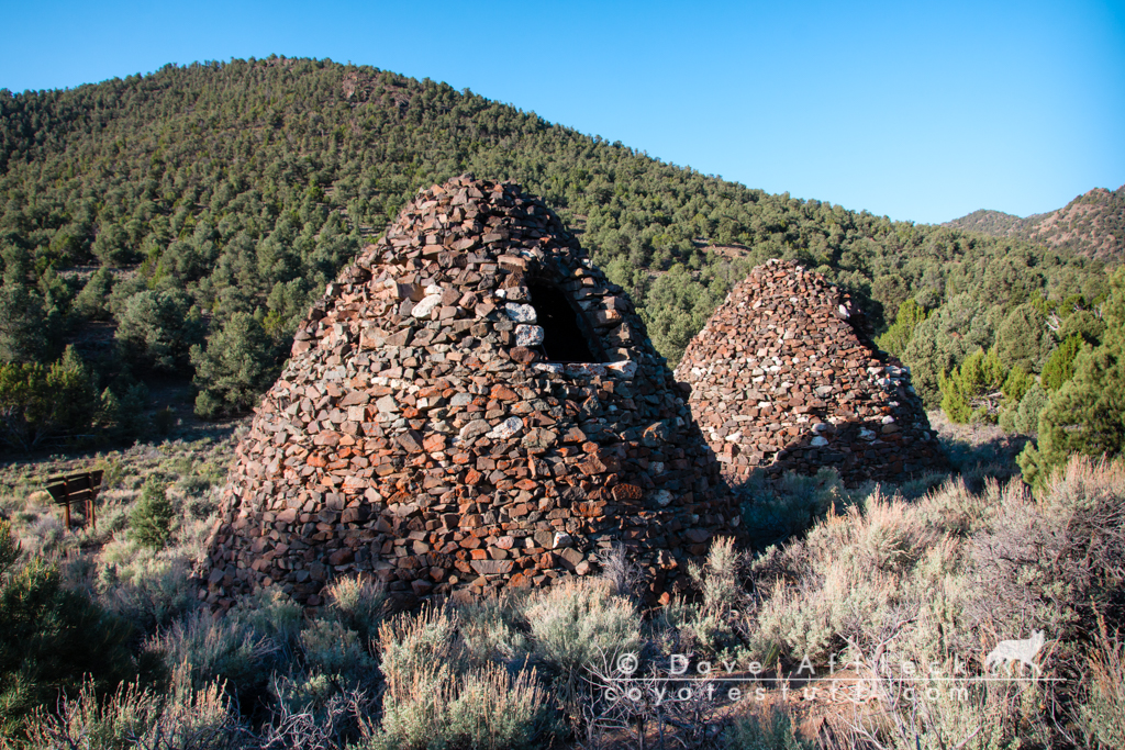 Very well preserved kilns, Tybo, Nevada