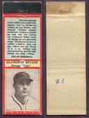 1936 U3-2 Diamond Matchbooks (Red)