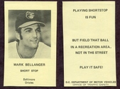 1970 Baltimore Orioles Traffic Safety