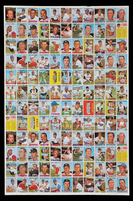 Uncut Sheets Of Baseball Cards Collectors Universe