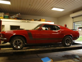 SOLD! 70 Boss 302! Red on Black! 4 Spd!