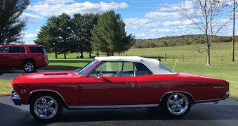 SOLD!  1966 Chevelle SS Convertible