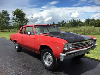 Sold 1967 Chevelle 2 Door Post Car