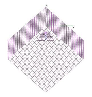 UHF Cube Corner Refl (1x1x1-m) 8-El LPDA