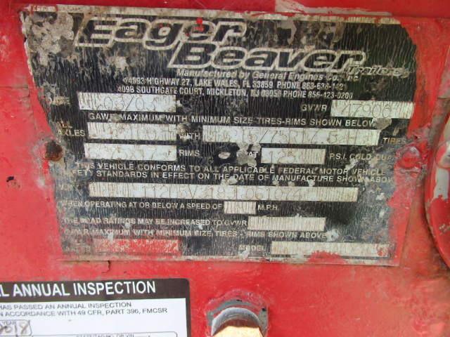2003 Eager Beaver 20 Ton Tag a Long Trailer