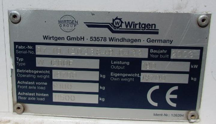 2003 Wirtgen W1200F Cold Milling Machine
