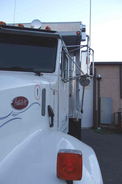 Peterbilt single axle dump truck for sale