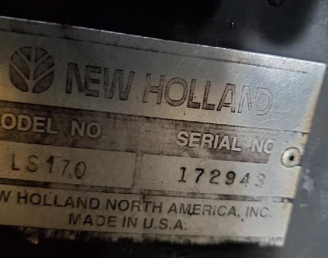 New Holland Skid Steer LS170 High Flow