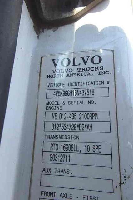 Volvo VHD84F200 Steerable Drop Tri Axle Dump Truck