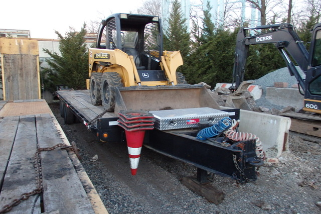 Used 20 Ton Tag a Long Paver Special 24ft flat deck