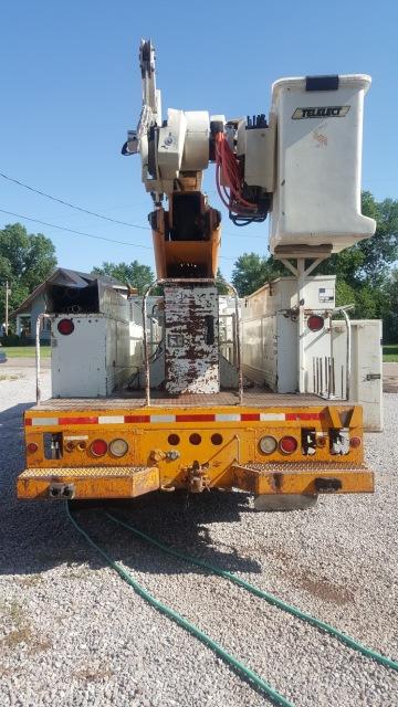 1995 75' High Ranger Simon Telelect 1500 lb Material Handler Bucket Truck