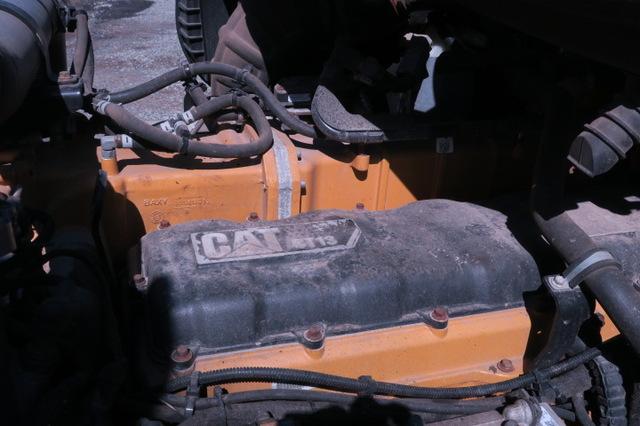 2014 Cat CT660L Steerable Drop Tri Axle Dump Truck Loaded