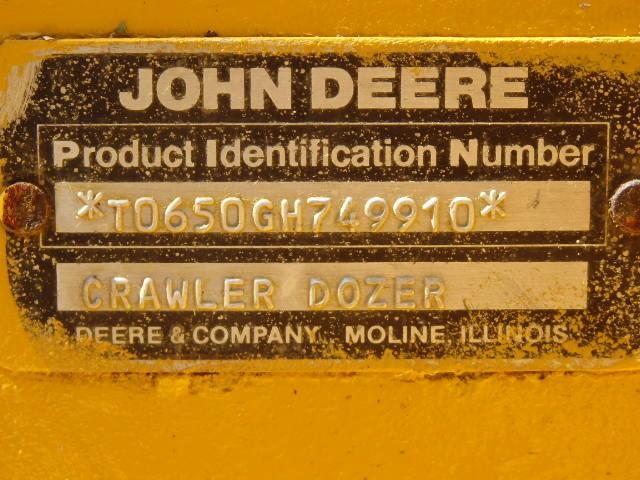 1988 John Deere 650G dozer