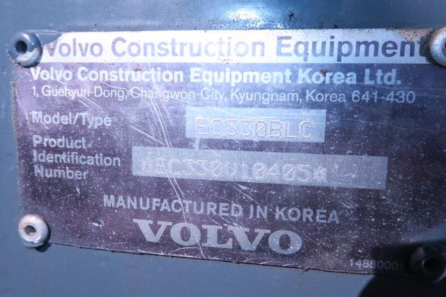 Volvo EC330BLC 79,620lbs Excavator with Hydraulic Thumb 54