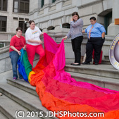 Flag Raising City Hall 2015