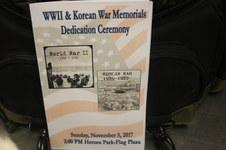 WWII & Korean War Memorial Dedication
