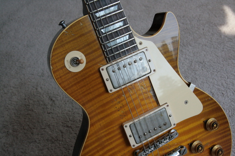 1959 gibson aged signed ace frehley 59 les paul reissue. Black Bedroom Furniture Sets. Home Design Ideas