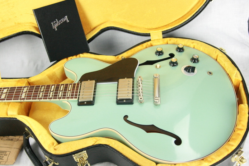 1964 gibson es 345 sea foam green vos 2017 memphis reissue ltd 50 made 335 355 guitars. Black Bedroom Furniture Sets. Home Design Ideas