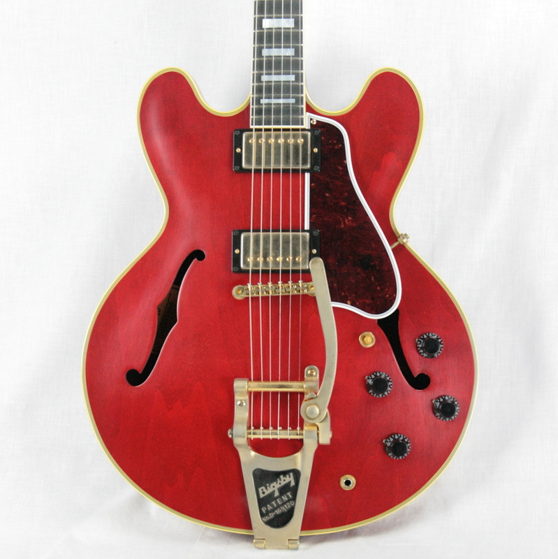 2017 gibson es 355 vos in cherry bigsby gold hdwr. Black Bedroom Furniture Sets. Home Design Ideas