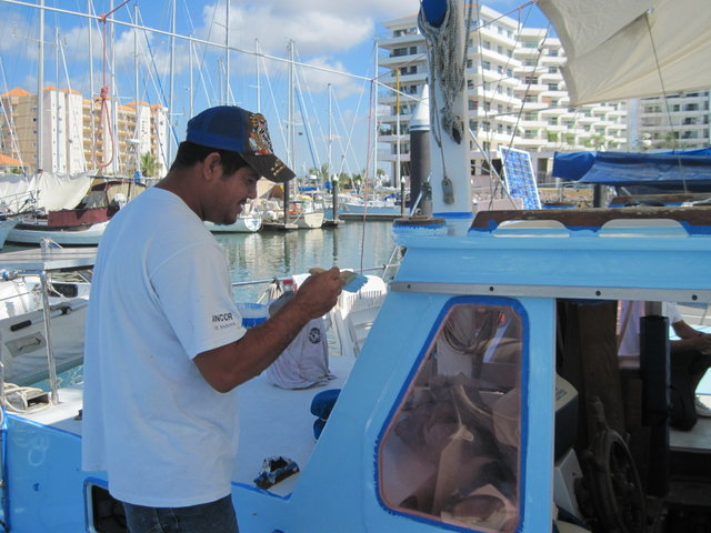 Beto Painting The Pilothouse