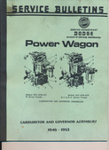 Carburetor and Governor Service Bulletin